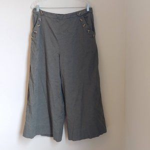 NWT American Eagle Olive Wide Leg Crop PANTS